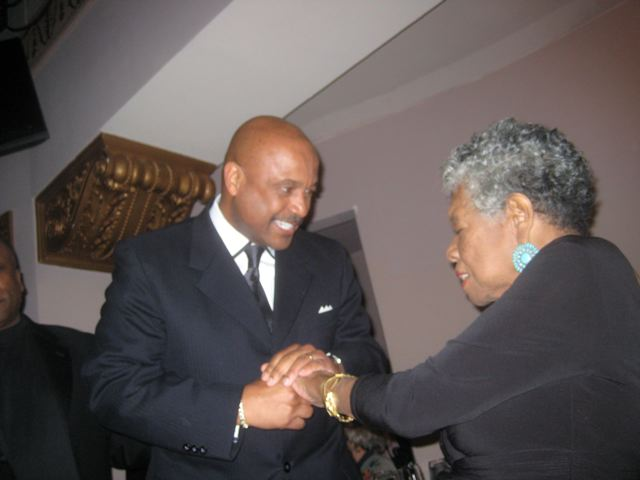 Willie Jolley and Dr. Maya Angelou