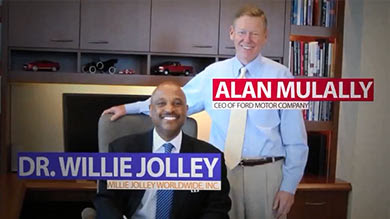 Dr. Willie Jolley and Alan Mullaly at Ford