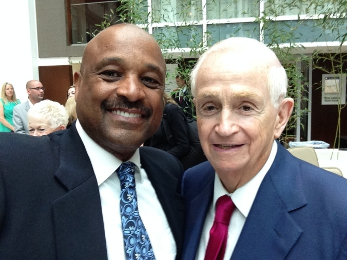 Dr. Willie Jolley with Bill Marriott