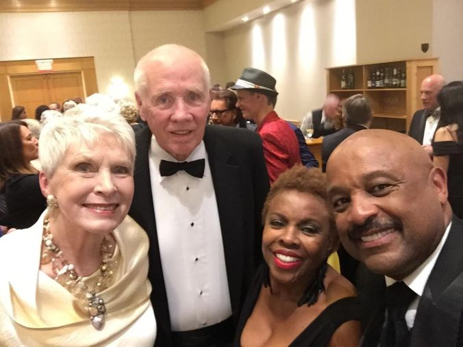 Jeanne Robertson and her husband, Jerry, with Willie and Dee Jolley